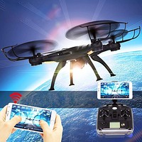 Abbyfrank RC X5SW Real-time Transmission Helicopter Drone With Camera 0.3MP HD 2.4G RC Toys 4 CH 6 Axis Gyro Quadcopter