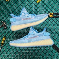 Adidas Yeezy Boost 350 V2 Cloud White Blue Running Shoes - Best Online Sale