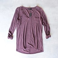 Michelle by Comune - 'Modesto' V-Neck Jersey Tee - more colors