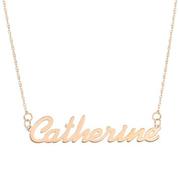 Name Necklace in Rose Gold - Simple Script Font