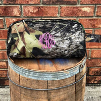 Monogrammed Camouflage Toiletry Bag