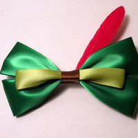 Peter Pan hair bow Disney Inspired