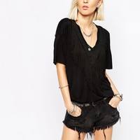 Religion Oversized T-Shirt With Tassels