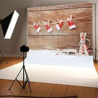 3 x 5ft Christmas Studio Photography Background Hat Cap Photo Stereo Backdrops [9305912519]