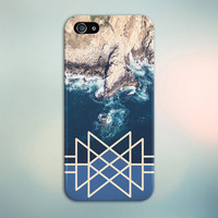Geometric Coastal Rock Waves x Ariel View Phone Case for iPhone 6 6 Plus iPhone 5 5s 5c 4 4s Samsung Galaxy s5 s4 & s3 and Note 5 4 3