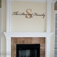 Personalize Monogram and Family Name Est Set Vinyl by showcase66
