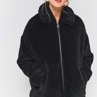 Light Before Dark Teddy Zip-Through Jacket | Urban Outfitters