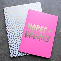 Ban.do - Good Ideas Notebook Set in Petite Party Dot + Hopes + Dreams