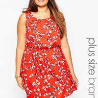 New Look Inspire | New Look Inspire Floral Print Skater Dress at ASOS