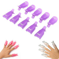 10PC Plastic Nail Art Soak Off Cap Clip UV Gel Polish Shellac Gel Nail Polish Remover Wrap Tool Lowest price free shipping