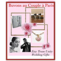 Let's drink to the couple in Paris #Wedding #gifts