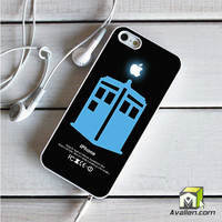 Dr Who Tardis With Apple Logo iPhone 5|5S Case by Avallen