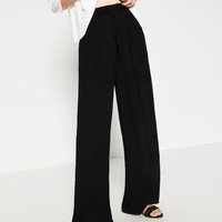 FLOWING PALAZZO TROUSERS - View All-TROUSERS-WOMAN | ZARA United Kingdom