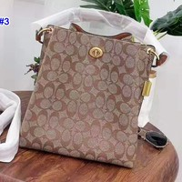 Coach hot seller of stylish lady's printed casual bucket shoulder bag #3