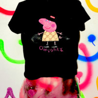 SWEET LORD O'MIGHTY! LIL PEPS CROP TEE IN BLACK
