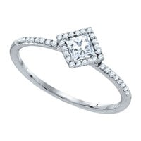 Diamond Fashion Ring in 14k White Gold 0.28 ctw