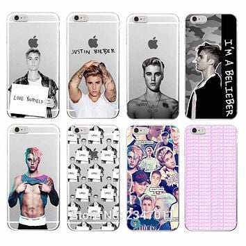 Fashion JUSTIN BIEBER Sorry Love Yourself Soft TPU Phone Case For iPhone 7 7Plus 6 6S 6Plus 5 5S SE 5C 4 4S SAMSUNG GALAXY