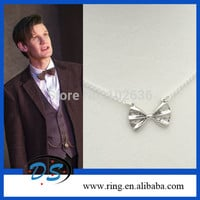 DOCTOR WHO Silver/Bronze Little Vintage Bow Tie Necklace