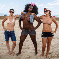 Support Free The Nipple with this Bikini Top! This funny topless Illusion is perfect for a bachelorette party or Mardi Gras!
