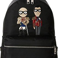 Dolce & Gabbana Mens Family Nylon Patch Backpack