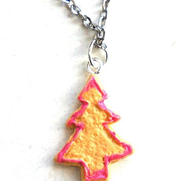 Christmas Tree Cookie Necklace