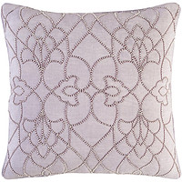 Dotted Pirouette Pillow Cover - Lilac, Mauve, White - DP004