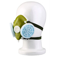 Dual Respirator Gas Mask Anti-Dust Twin Chemical Spray Paint Safety Headwear Free shipping