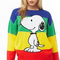 Snoopy Graphic Rainbow Sweater