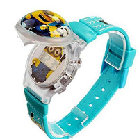 """Despicable Me """" Minion"""" Flip Top Digital Plastic Watch w/ Floating Star and Lights"""