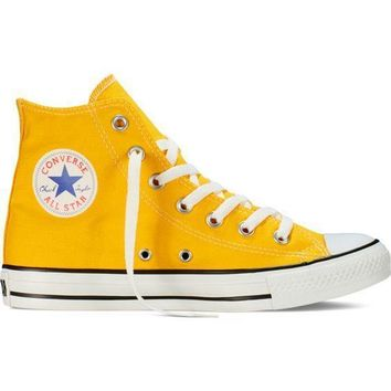 Converse Fashion Canvas Flats Sneakers Sport Shoes yellow-1