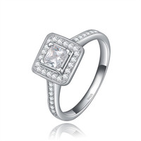ORSA Luxury Brand Princess Cut 0.5ct Engagement Wedding Ring 925 with White Gold Plated OR41