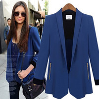2016 Trending Fashion Women Slim Long Sleeve Business Casual Suit Outerwear Jacket