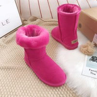 UGG Fashion Plush leather boots boots in tube Boots-8
