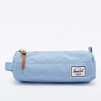 Herschel Supply co. Chambray Settlement Pencil Case in Sky Blue - Urban Outfitters