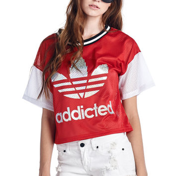 Red Athletic Mesh Top