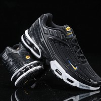 Nike Air Max Plus III New fashion hook couple running shoes Black
