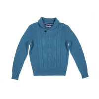Tommy Hilfiger Mens Wool Blend Cable Knit Pullover Sweater