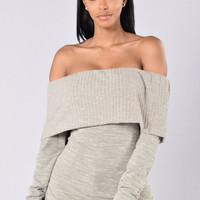 Don't Back Down Sweater - Heather Grey