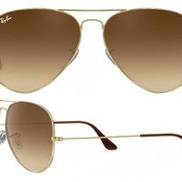 Ray Ban Aviator RB3025 Sunglasses 001/51 Gold with Brown Gradient Lens