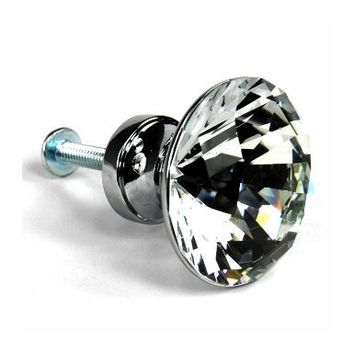 Winpoon® 5PCS 30mm Diamond Shape Crystal Glass Cabinet Knob Cupboard Drawer Pull Handle/Great for Cupboard, Kitchen and Bathroom Cabinets, Shutters, etc