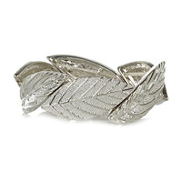 River Island Womens Silver tone leaf stretch bracelet
