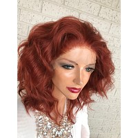 "Reddish Brown SWISS Lace Front Wig 10"" Purpose 319 10"