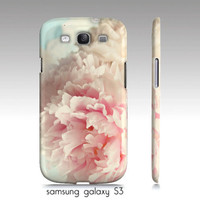 """Samsung galaxy S3, iphone 4,4s, 5 phone case-""""delicate"""" shabby chic, floral art, pink aqua"""