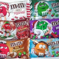M&Ms Lover's Holiday Christmas Party & Gift Variety Pack~ Dark Chocolate M&M's, Pretzel M&M's, Cherry Cordial M&M's, Gingerbread M&M's, White Chocolate Peppermint M&M's, & Holiday Mint M&M's!