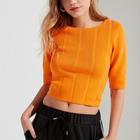 UO Wide Ribbed Knit Sweater Tee | Urban Outfitters