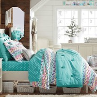 Beadboard Color Me Zig Zag Flannel Bedroom