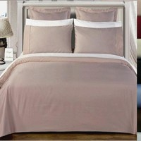 Duvet cover set 550 Thread count Solid Combed cotton