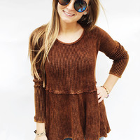 SUPER SOFT THERMAL BabyDoll Top