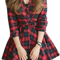 Mad About Plaid Shirt Dress