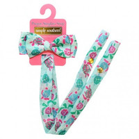 Simply Southern Sunglass Bow Retainer - Turtle & Friends